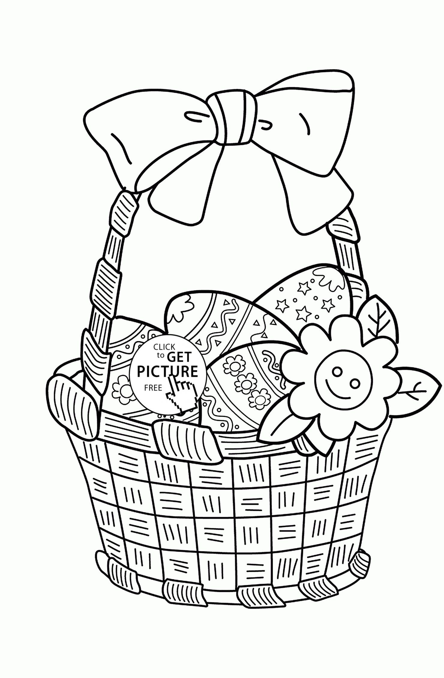 easter basket coloring pages part 3 - Coloring Pages Easter Baskets