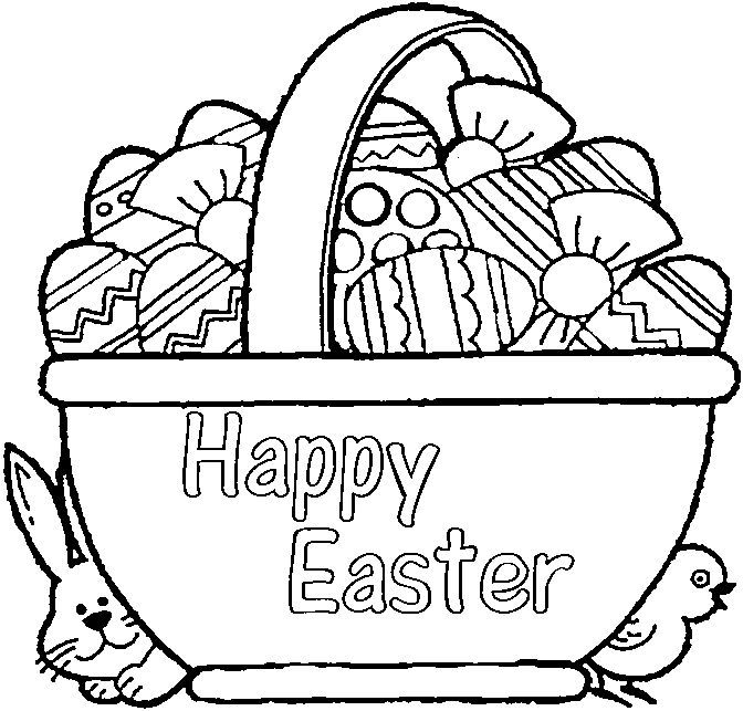 Easter Basket Coloring Pages 26