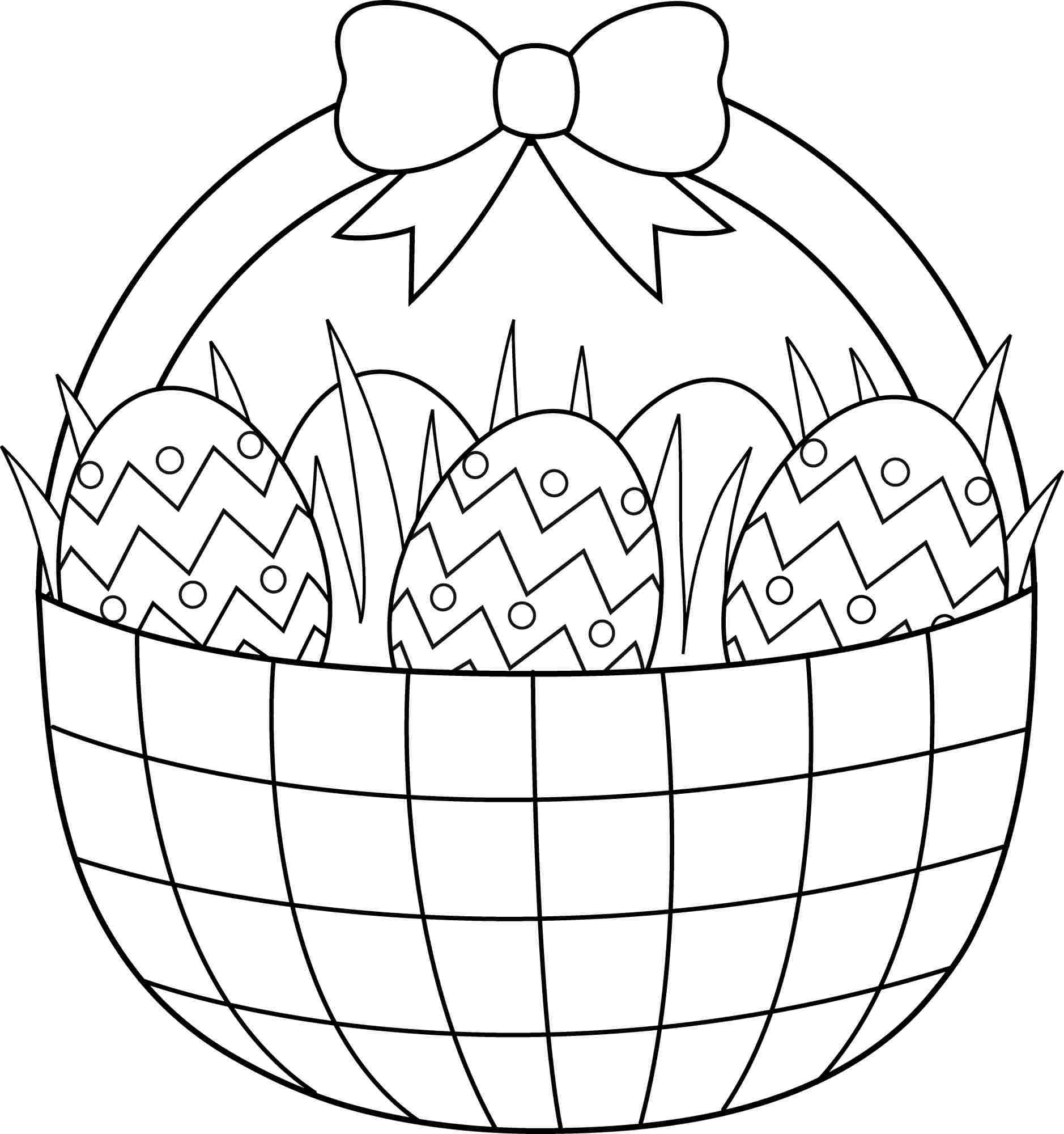 easter basket coloring pages 27 - Coloring Pages Easter Baskets