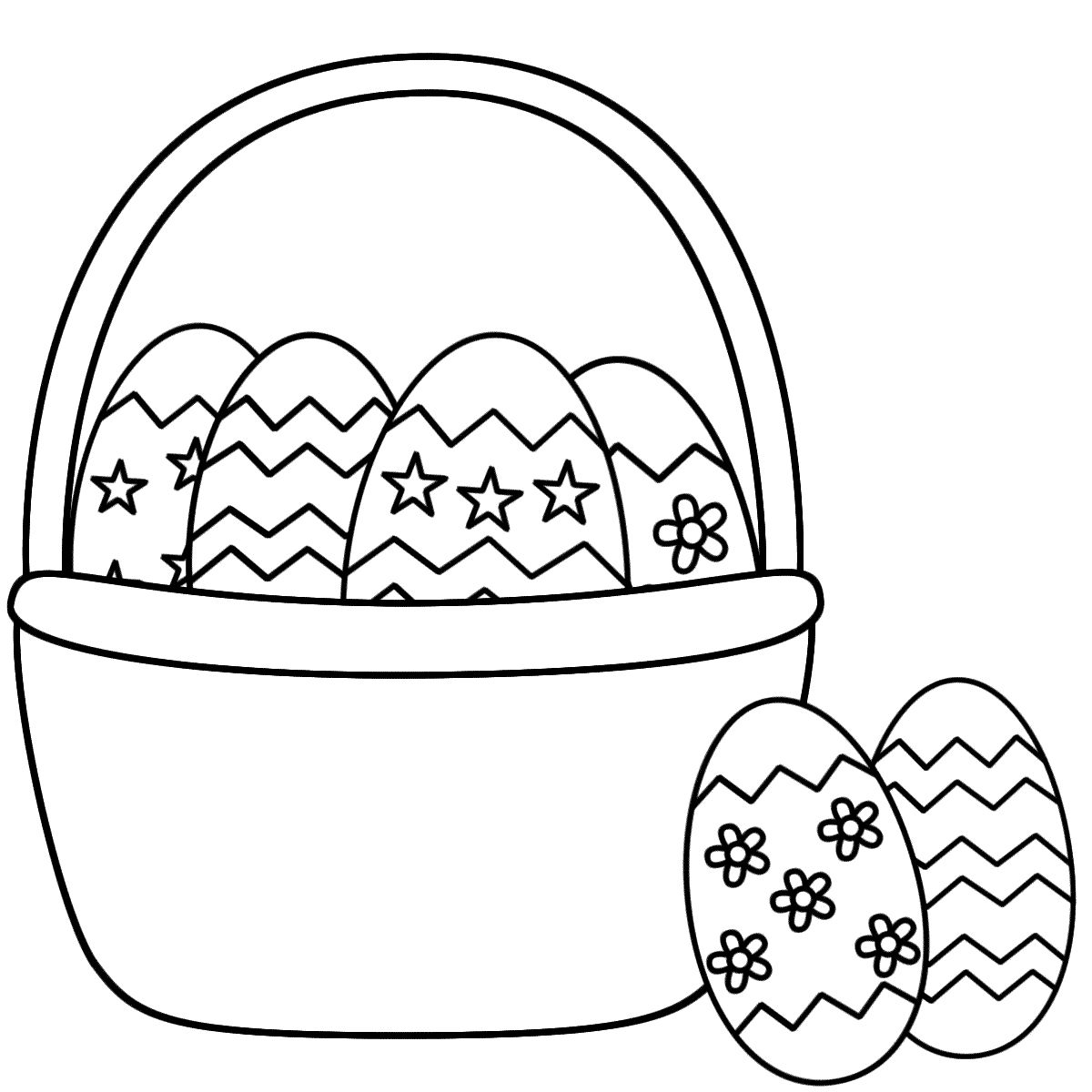 Easter Basket Coloring Pages 29