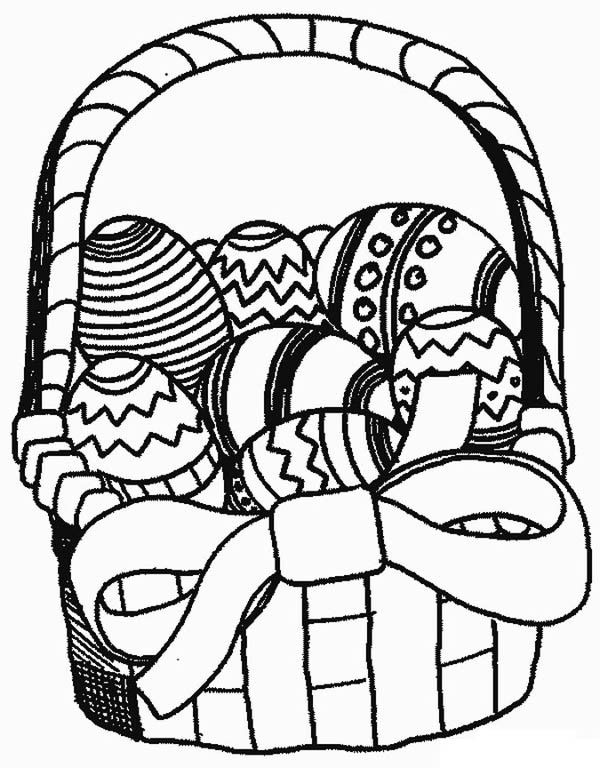 Easter Basket Coloring Pages 30