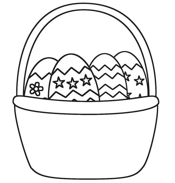 Easter Basket Coloring Pages Part 4