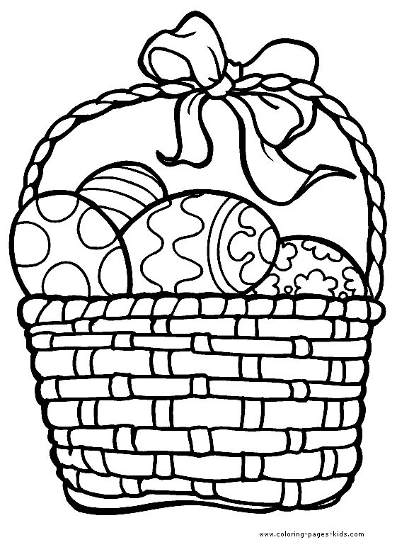 Easter Basket Coloring Pages 33