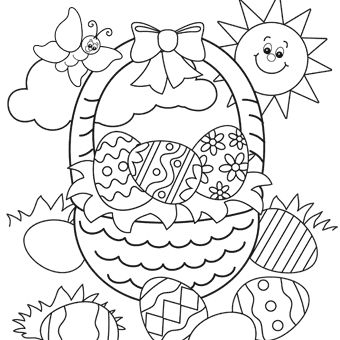 Easter Basket Coloring Pages 34