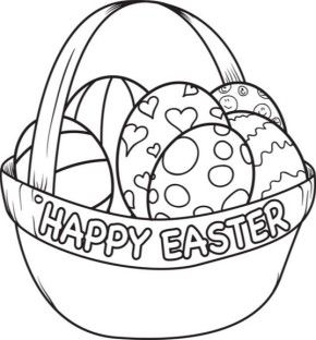 Easter Basket Coloring Pages 36
