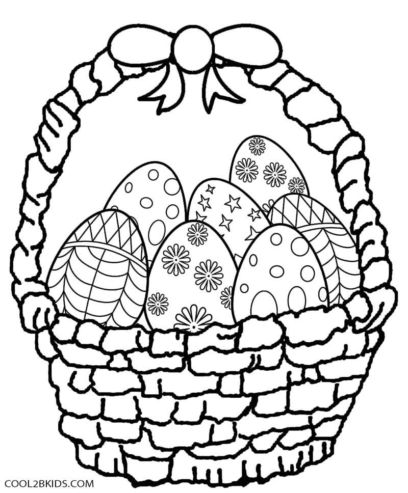 Easter Basket Coloring Pages 37