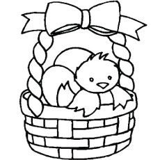 Easter Basket Coloring Pages 39