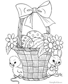 Easter Basket Coloring Pages 4