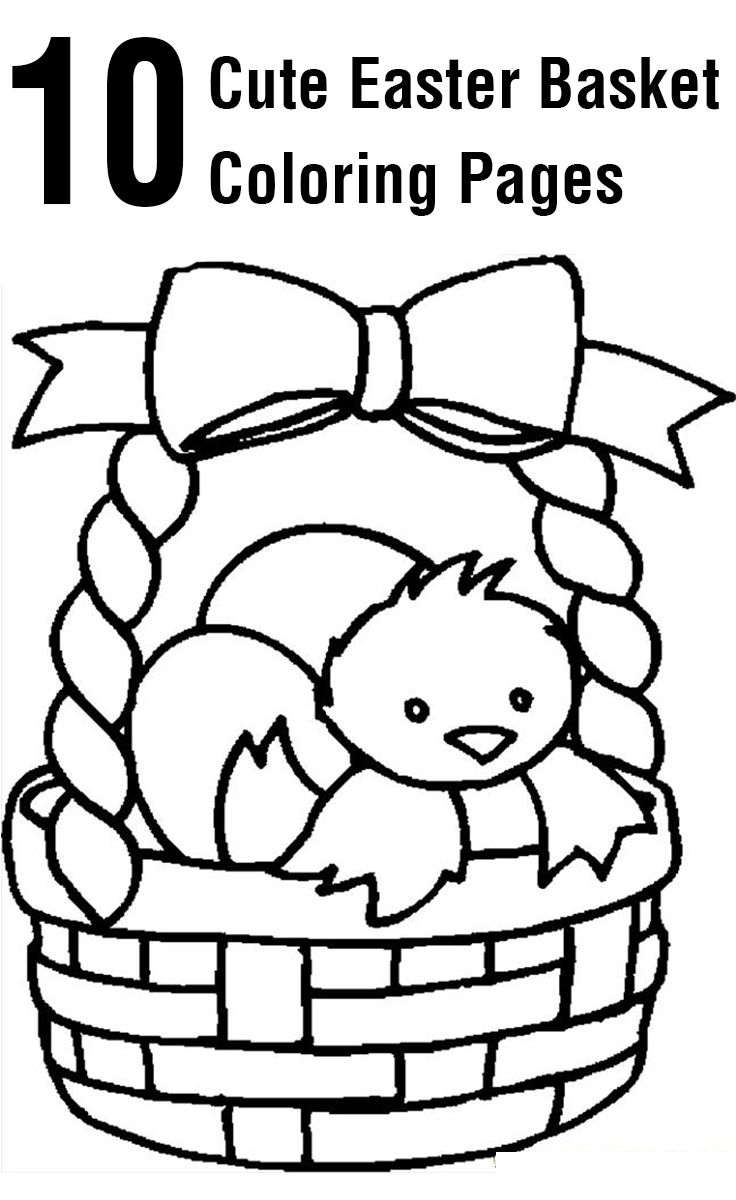 Easter Basket Coloring Pages 40
