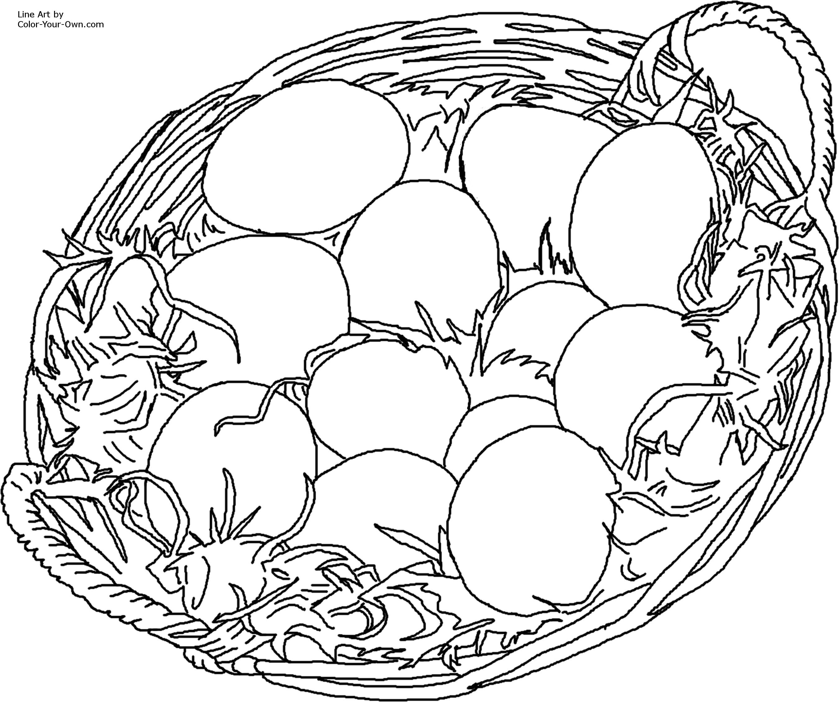 Easter Basket Coloring Pages 41