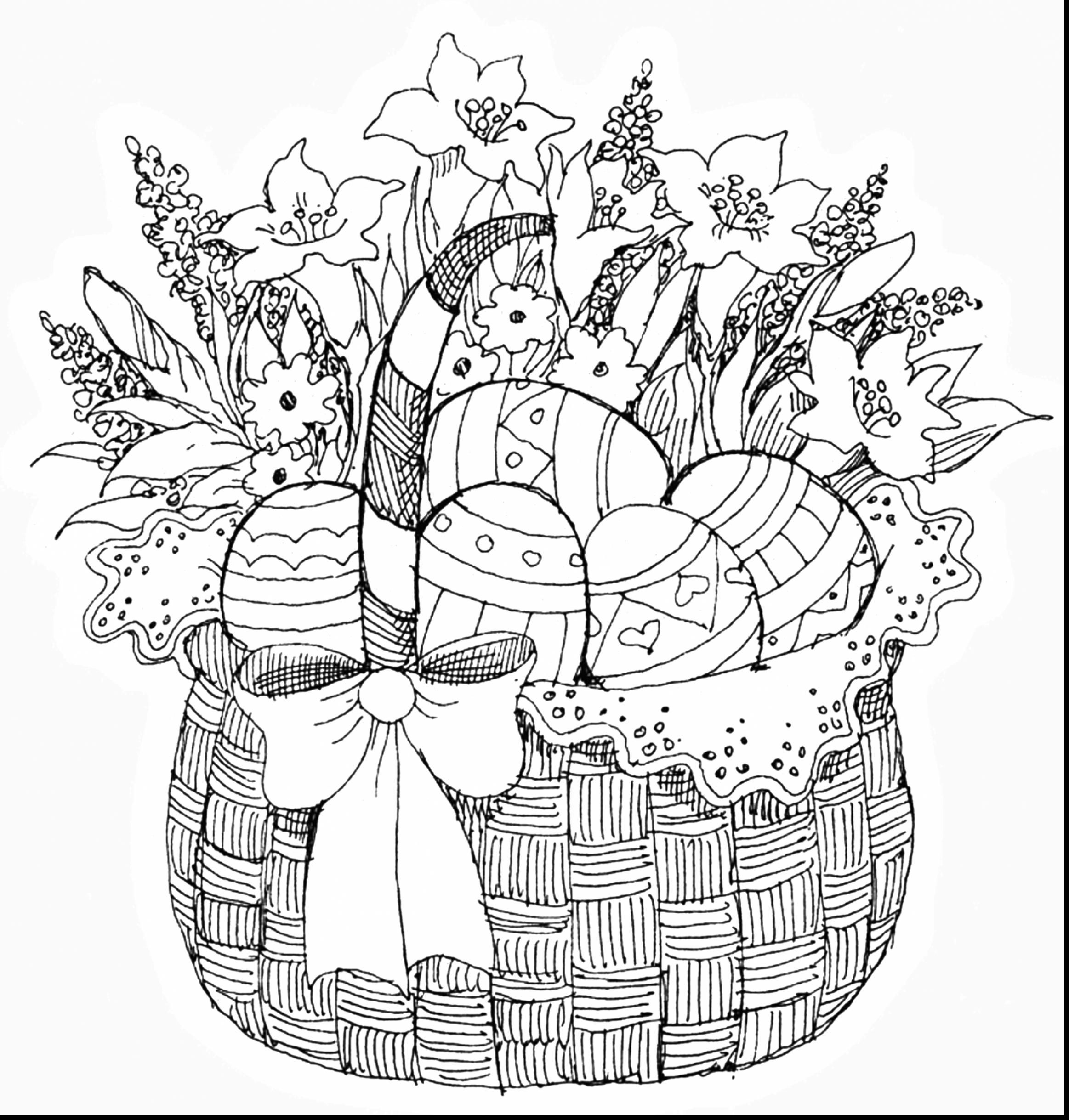 Easter Basket Coloring Pages 44