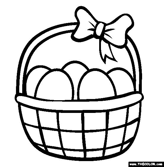Easter Basket Coloring Pages 45