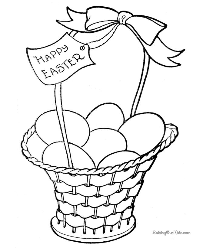 Easter Basket Coloring Pages 46
