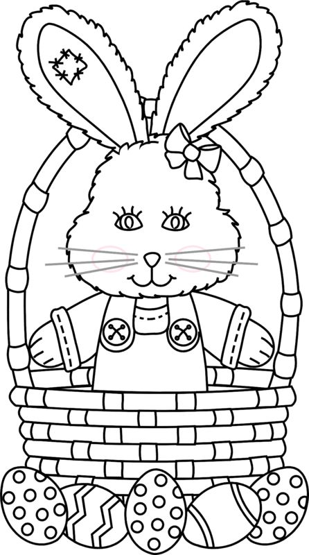 Easter Basket Coloring Pages 47