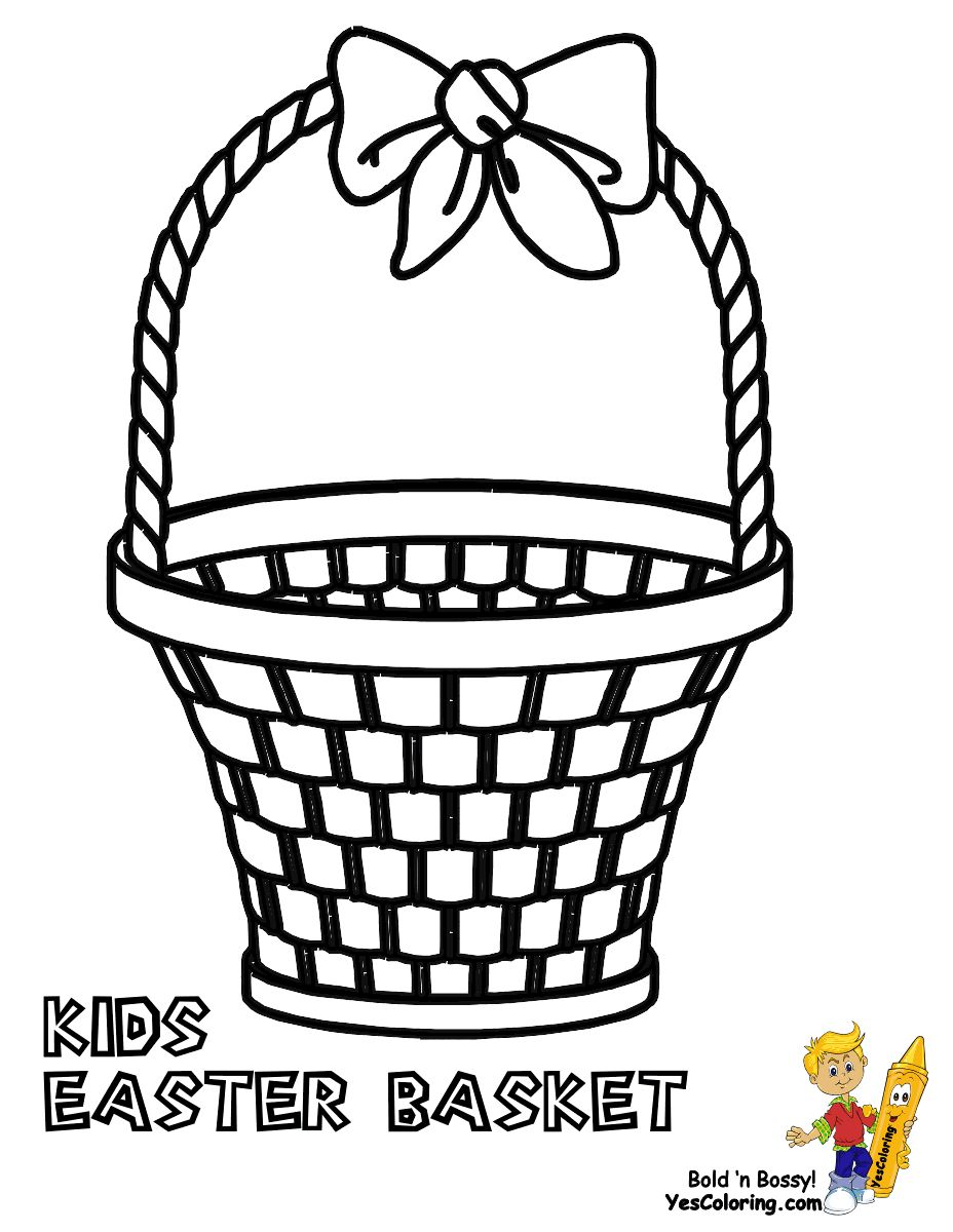 Easter Basket Coloring Pages 48