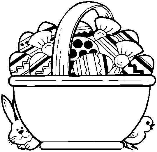Easter Basket Coloring Pages 5