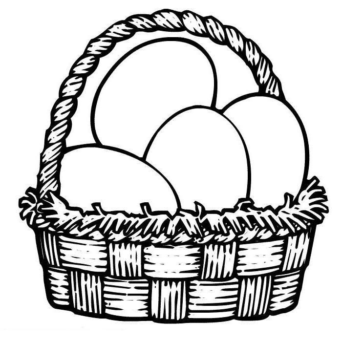 Easter Basket Coloring Pages 50