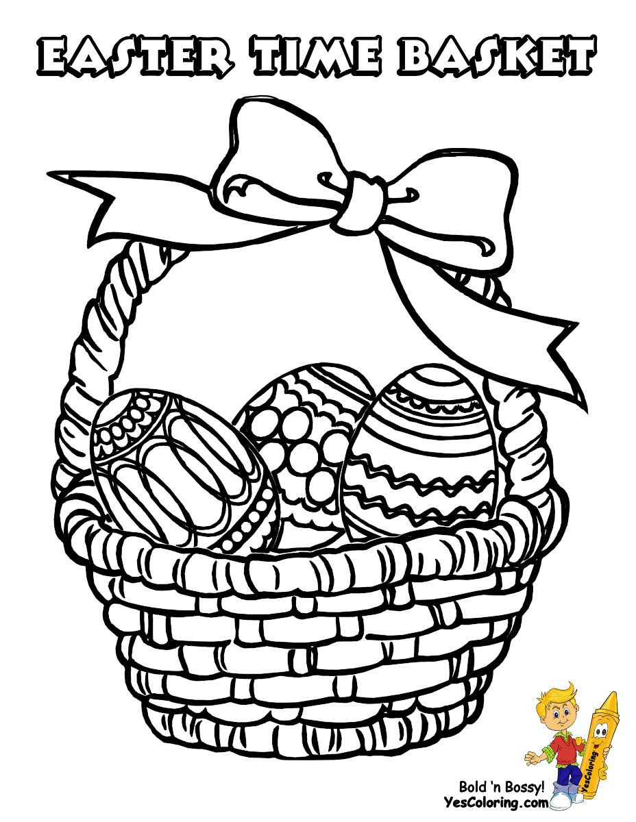 Easter Basket Coloring Pages 52
