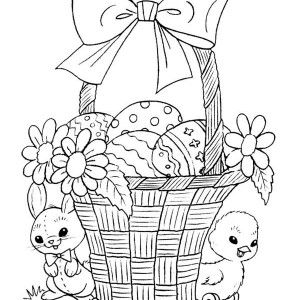 Easter Basket Coloring Pages 53