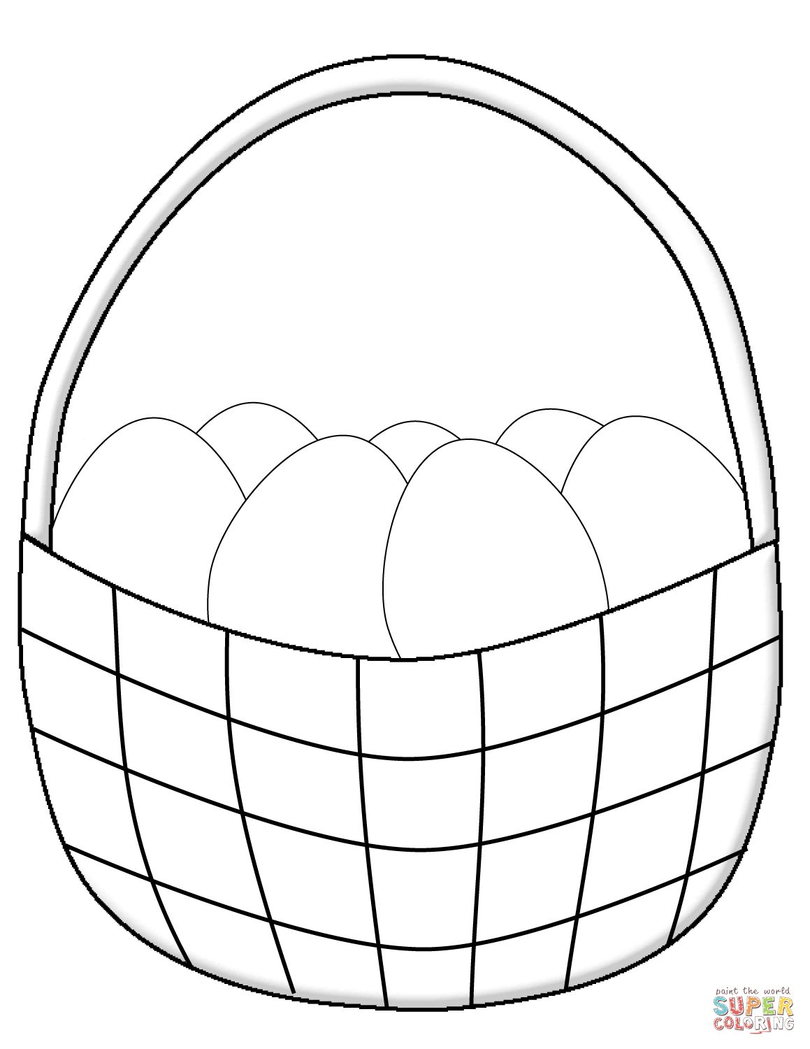 Easter Basket Coloring Pages 54