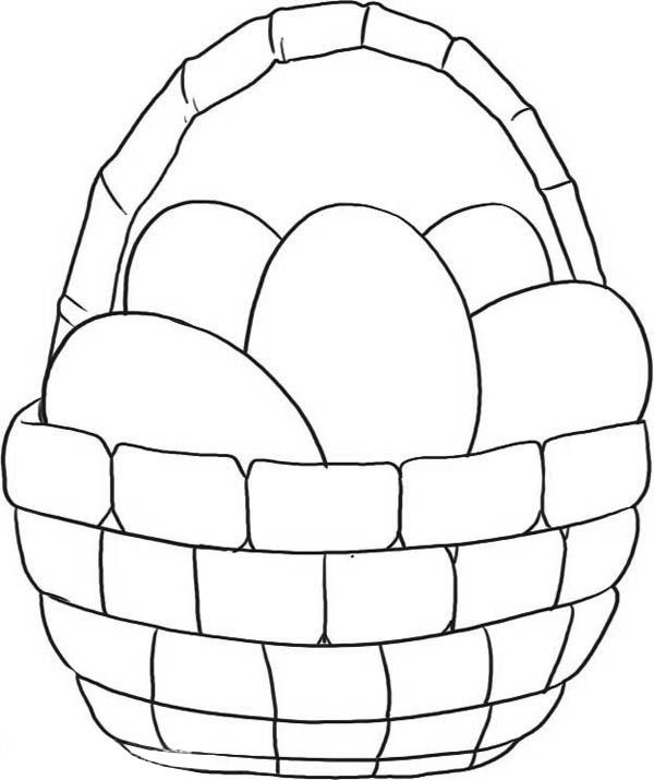 Easter Basket Coloring Pages 55