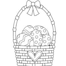 Easter Basket Coloring Pages 56