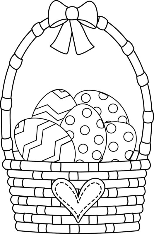 Easter Basket Coloring Pages 58