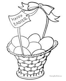 Easter Basket Coloring Pages 59