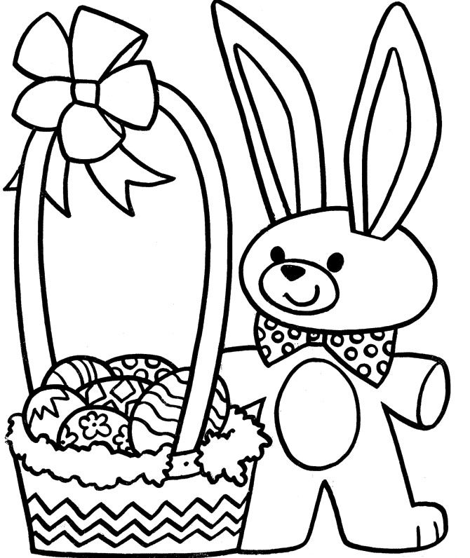 Easter Basket Coloring Pages 6