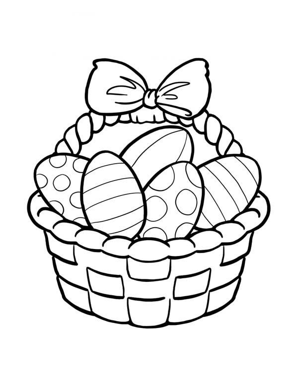 Easter Basket Coloring Pages 7