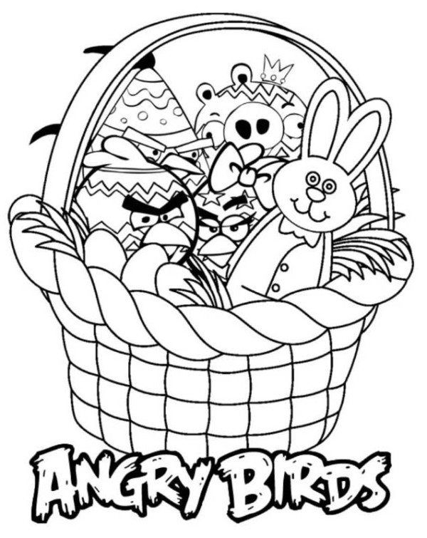 Easter Basket Coloring Pages 9