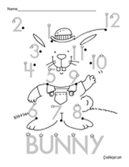 Easter Bunny Dot To Dot 1