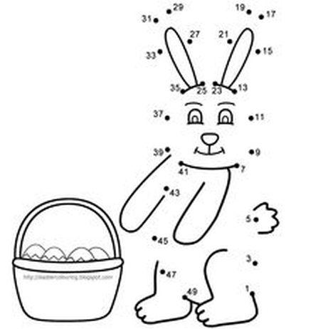 Easter Bunny Dot To Dot 11
