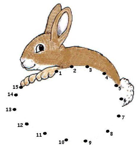 Easter Bunny Dot To Dot 17