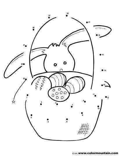 Easter Bunny Dot To Dot 23