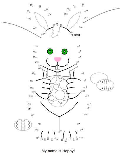 Easter Bunny Dot To Dot 24