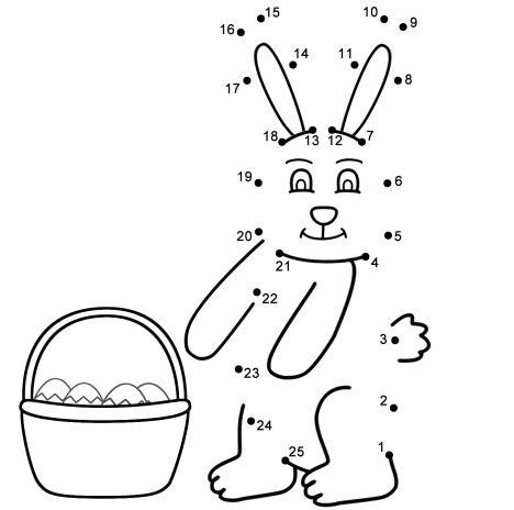 Easter Bunny Dot To Dot 29