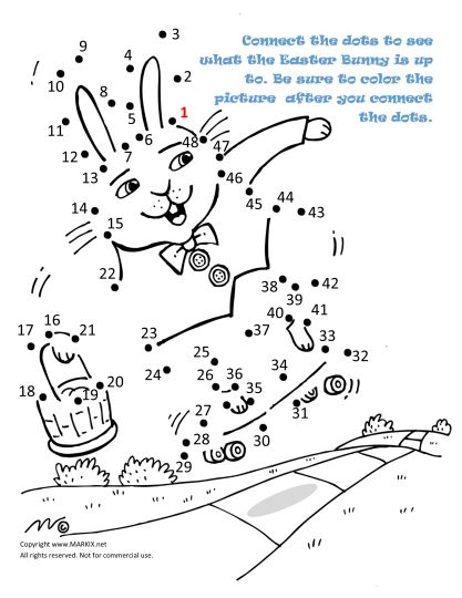 Easter Bunny Dot To Dot 31