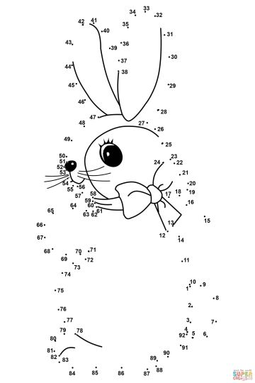 Easter Bunny Dot To Dot 39