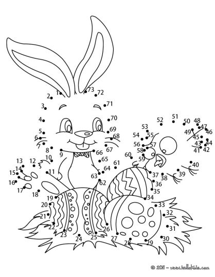 Easter Bunny Dot To Dot 8