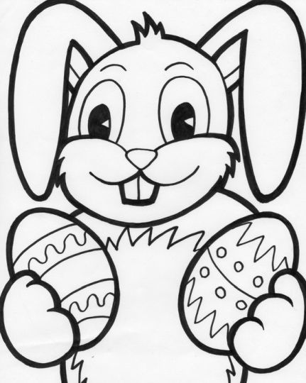 Easter Bunny With Eggs Coloring Page 10