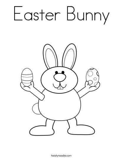 Easter Bunny With Eggs Coloring Page 11