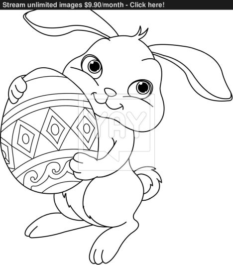 Easter Bunny With Eggs Coloring Page 13