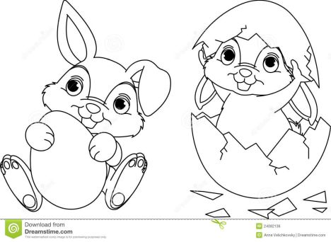 Easter Bunny With Eggs Coloring Page 14