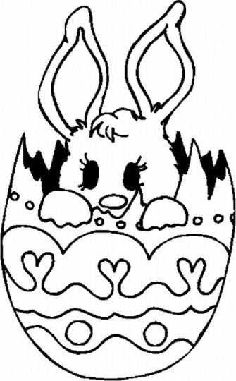 Easter Bunny With Eggs Coloring Page 16