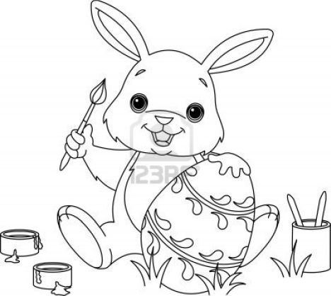 Easter Bunny With Eggs Coloring Page 18