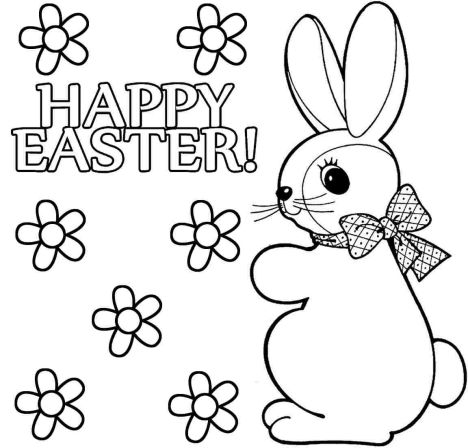 Easter Bunny With Eggs Coloring Page 19