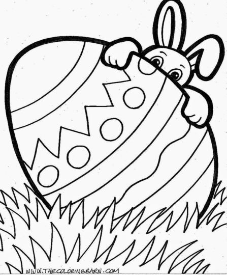 Easter Bunny With Eggs Coloring Page 20