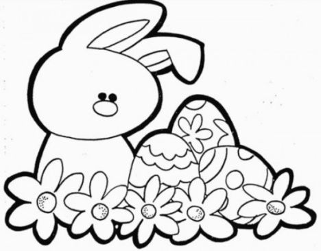 Easter Bunny With Eggs Coloring Page 21