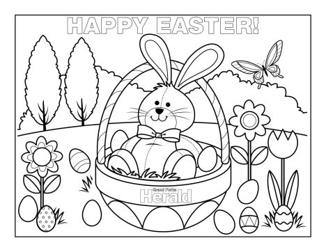 Easter Bunny With Eggs Coloring Page 24